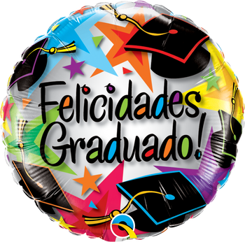 "18""Q Felicidades Graduado Stars (10 count)"