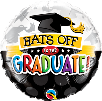 """18""""Q Hats Off To The Graduate (5 count)"""