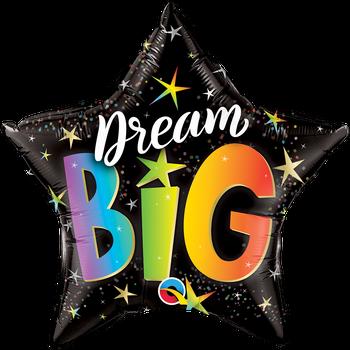 "20""Q Big Dream Rainbow Stars (5 count)"