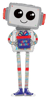 "62""B Happy Birthday Robot Body Special Delivery (1 count)"