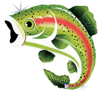 "29""B Fish Trout Rainbow Holo Pkg (1 count)"
