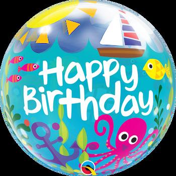 "22""Q Bubble Happy Birthday Maritime Fun (1 count)"