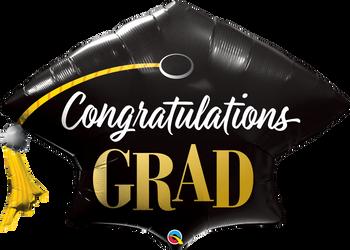 """41""""Q Congratulations Grad Cap Pkg (5 count)"""
