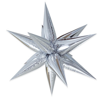 "40"" Exploding Stars Cluster Silver Pkg (1 count)"