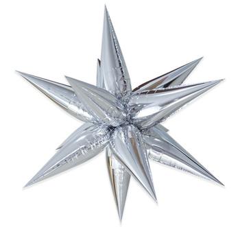 "26"" Exploding Stars Cluster Silver Pkg (1 count)"