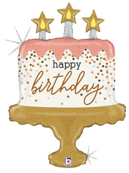 "33""B Happy Birthday Cake Confetti Pkg (5 count)"