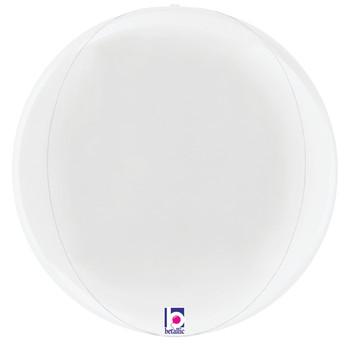 "22""B Globe Dimensionals White Pkg (5 count)"