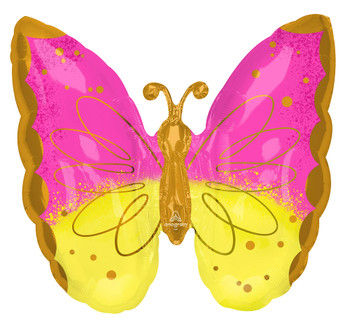 """25""""A Butterfly Pink & Yellow Pkg (5 count)"""
