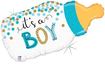 """33""""B Baby Bottle It's A Boy Confetti Holographic (5 count)"""