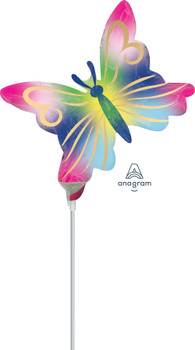 """11""""A Butterfly Satin Watercolor (10 count)"""