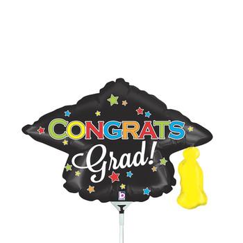 """14""""B Congrats Grad Cap Stars (10 count)"""