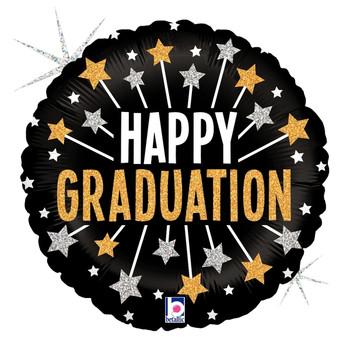 "18""B Happy Graduation Glittering Stars (10 count)"