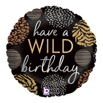 """18""""B Happy Birthday Wild Pkg (5 count)"""