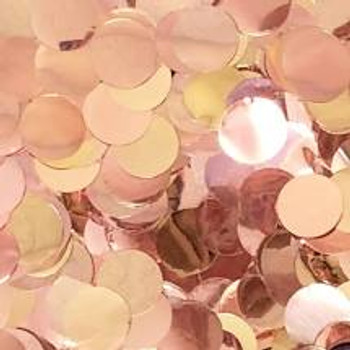"Confetti Circles , Mylar Rose Gold 1""(1 count)"