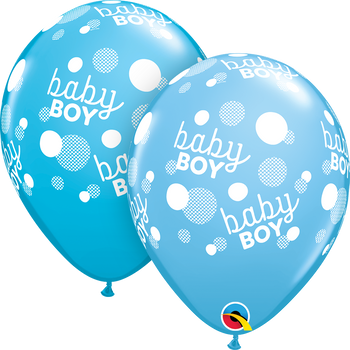 "11""Q Baby Boy Pale Blue and Robin's Egg Assorted (50 count)"