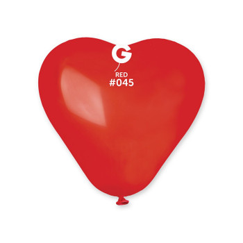"6""G Heart Red #045 (100 count)"