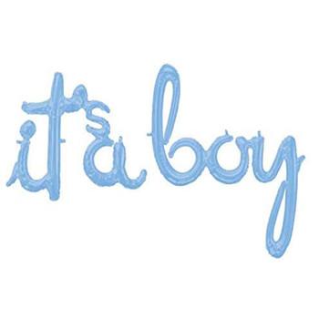 """27""""A It's A Boy phrase Pastel Blue Pkg (1 count)"""