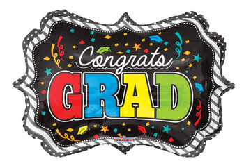 "14""K Congrats Grad Frame Shape (10 count)"