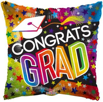 """4""""K Congrats Grad Stars and Rainbow Holo (10 count)"""