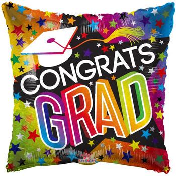 """9""""K Congrats Grad Stars and Rainbow Holo (10 count)"""