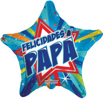 "18""K Felicidades Papa Star (10 count)"