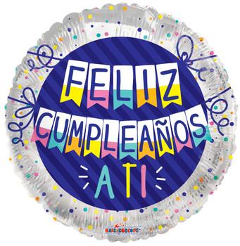 "18""K Feliz Cumpleanos Pennants (10 count)"