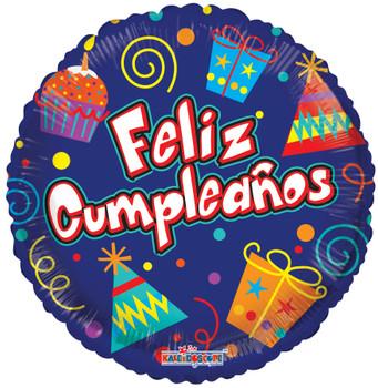 "18""K Feliz Cumpleanos Party Elements (10 count)"