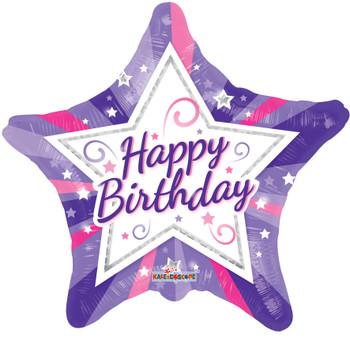 "18""K Happy Birthday Juvenile Star (10 count)"