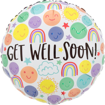 """18""""A Get Well Happy Doodles (10 count)"""