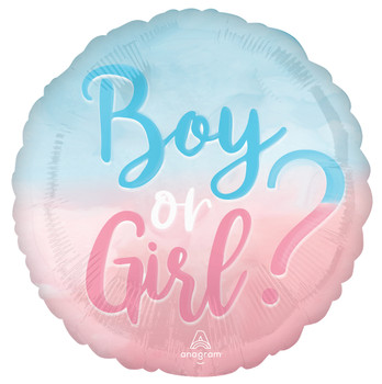 """18""""A The Big Gender Reveal Boy or Girl (10 count)"""