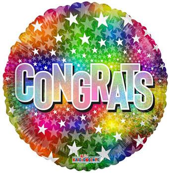 """18""""K Congrats Stars Multi (10 count)"""