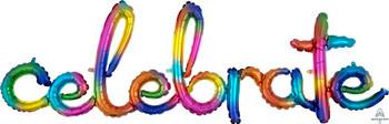 "59""A Script Celebrate Rainbow Splash Pkg (1 count)"
