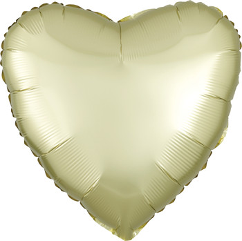 """18""""A Heart Satin Luxe Yellow (10 count)"""