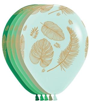 "11""B Tropical Green Leaf Assortment (50 count)"