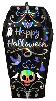 """27""""A Halloween Coffin Holographic Pkg (5 count)"""