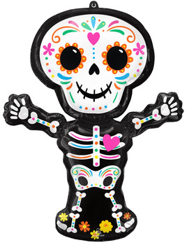 """34""""A Day Of The Dead Standing Skeleton Pkg (5 count)"""