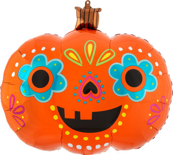 "24""A Day Of The Dead Pumpkin Halloween Pkg (5 count)"