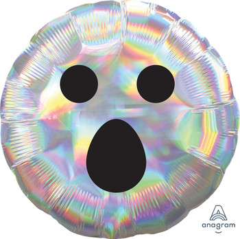"""18""""A Iridescent Ghost Face Halloween (10 count)"""