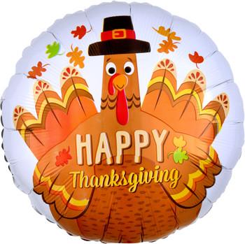 "18""A Happy Thanksgiving Pilgrim Turkey (10 count)"