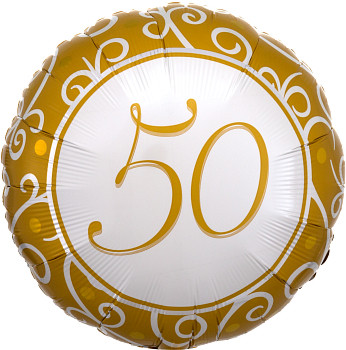 """18""""A 50th Anniversary / Birthday Gold (10 count)"""