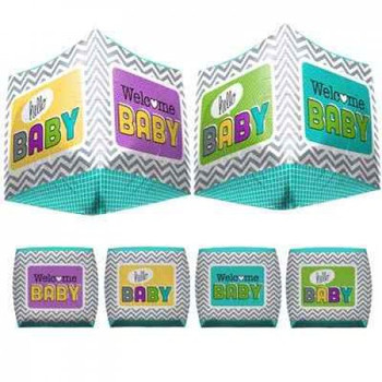 """17""""N Welcome Baby Cube Pkg (1 count)"""