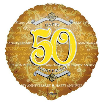 """18""""A 50th Anniversary Gold (10 count)"""