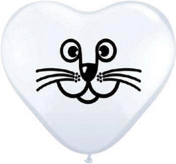 """6""""Q Cat Face White (100 count)"""
