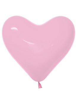 "16""B Heart Pink Bubble Gum (50 count)"