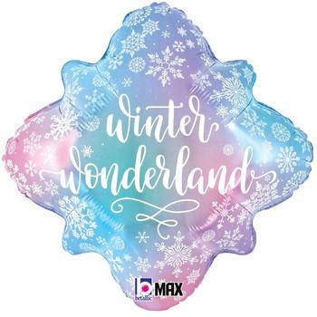 "18""B Snowflake Winter Wonderland Pkg (5 count)"