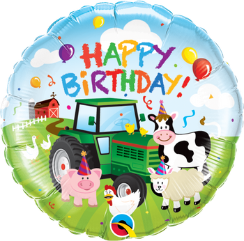"18""Q Happy Birthday Barnyard Animal Farm Pkg (5 count)"