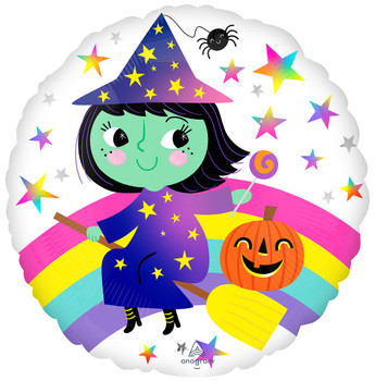 """18""""A Halloween Rainbow Witch (10 count)"""