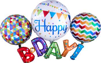 "56""A Happy Birthday Multi Pkg (1 count)"