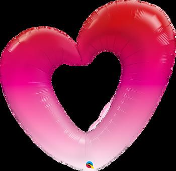"42""Q Heart Ombre Pink Pkg (5 count)"