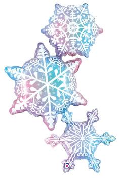 "50""B Snowflake Trio Pkg (1 count)"